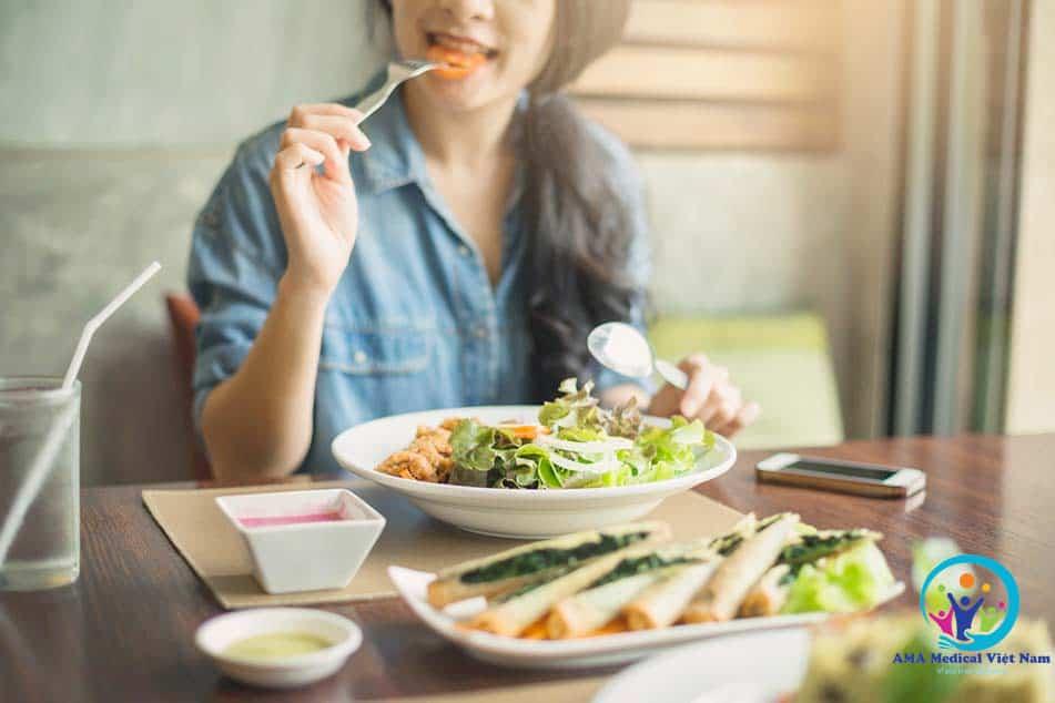 Dùng Odistad kết hợp với chế độ ăn uống khoa học, hợp lý