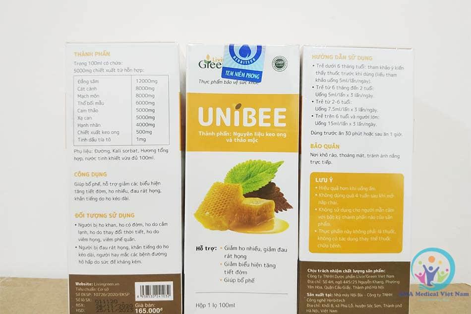 Lọ xịt họng Unibee