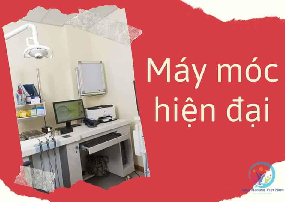 Hệ thống trang thiết bị y tế hiện đại, luôn được bảo dưỡng định kỳ