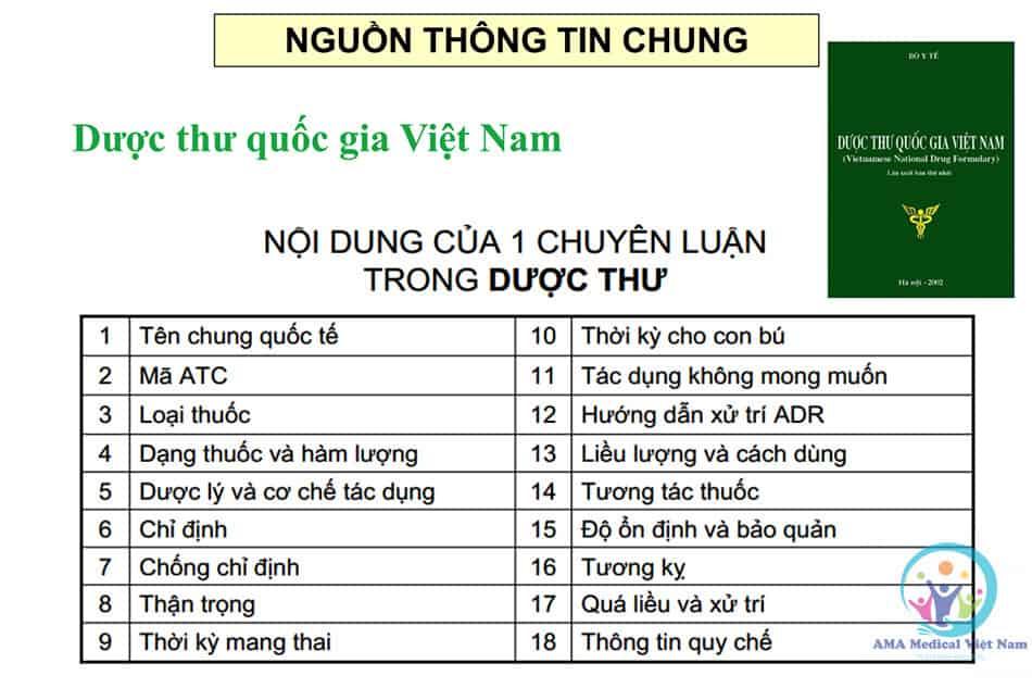 Nội dung trong 1 chuyên luận dược thư quốc gia Việt Nam