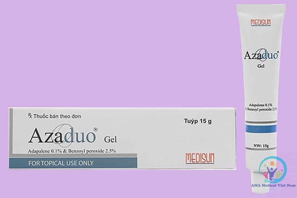 Thuốc trị mụn Azaduo gel