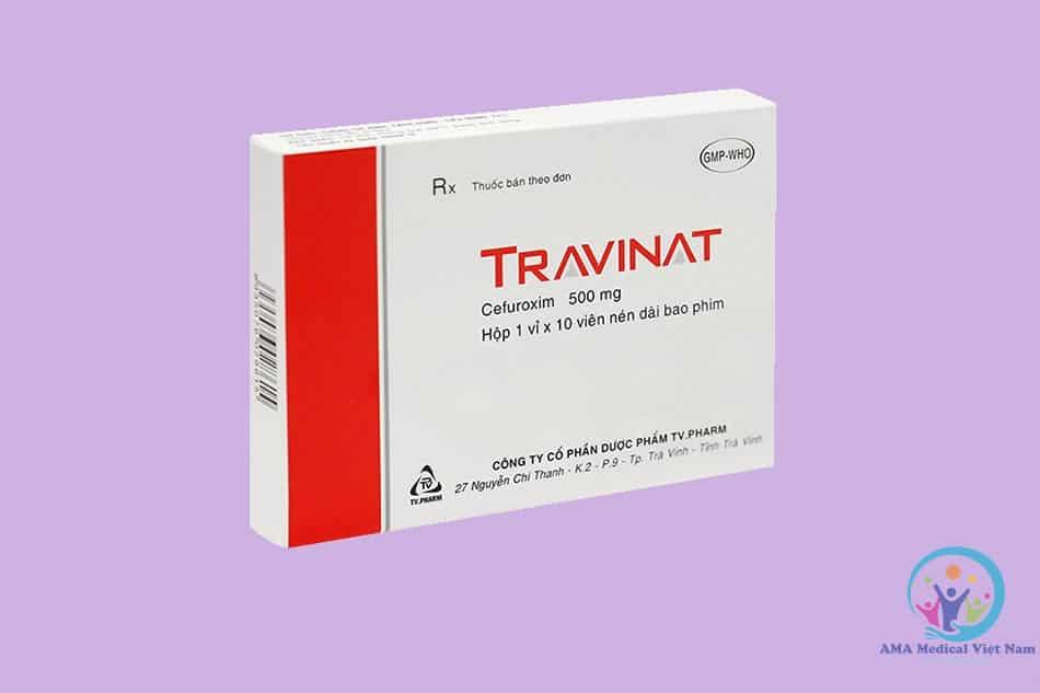 Hộp thuốc Travinat 500mg