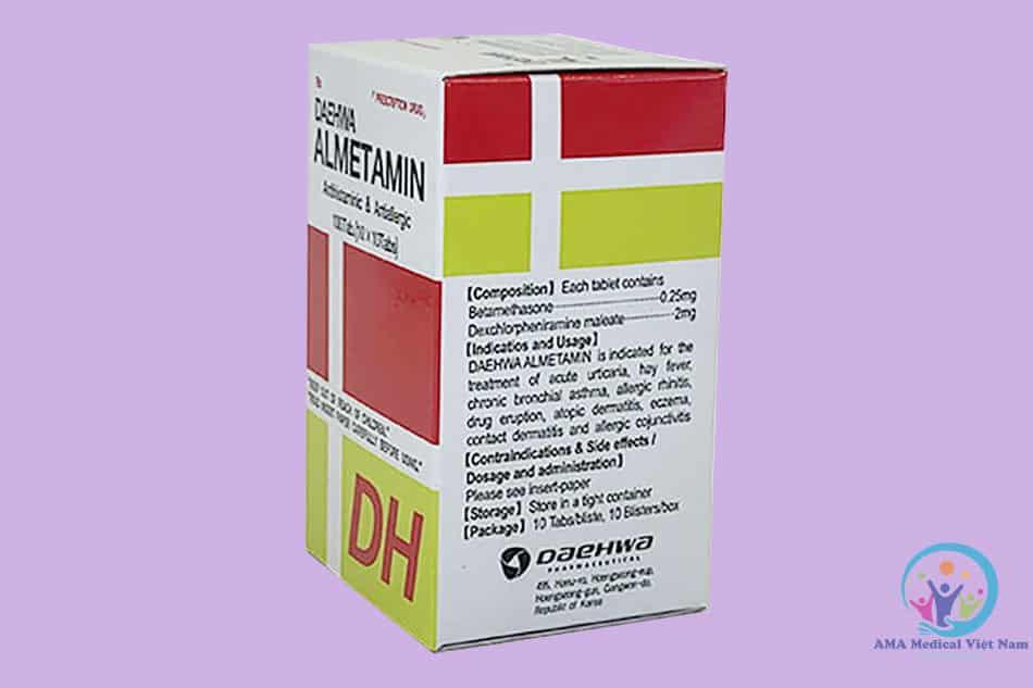 Hộp thuốc Almetamin