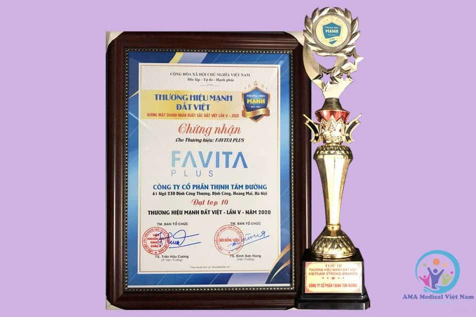Chứng nhận Favita Plus lọt top 10 thương hiệu mạnh
