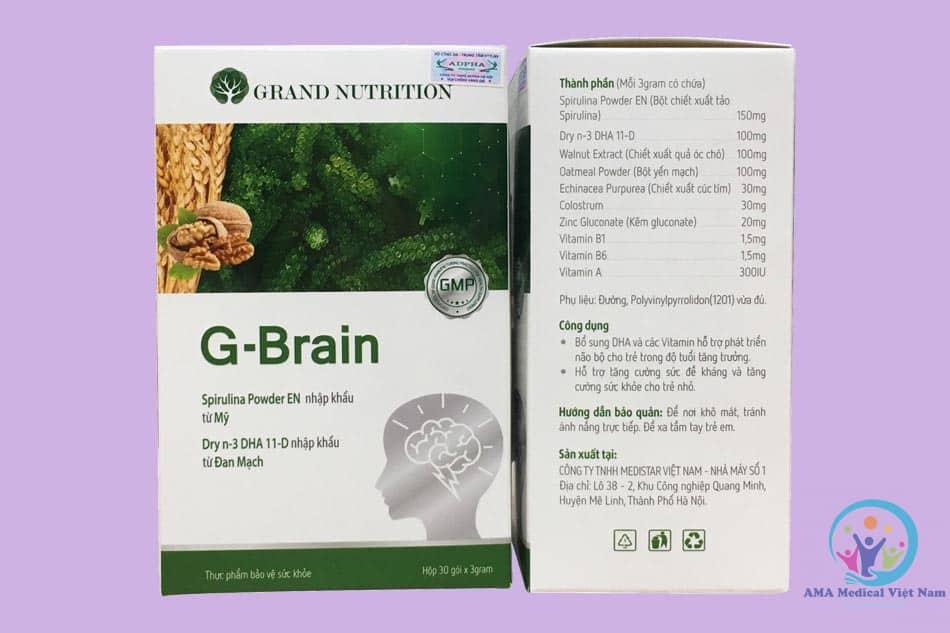 Thành phần có trong G-Brain