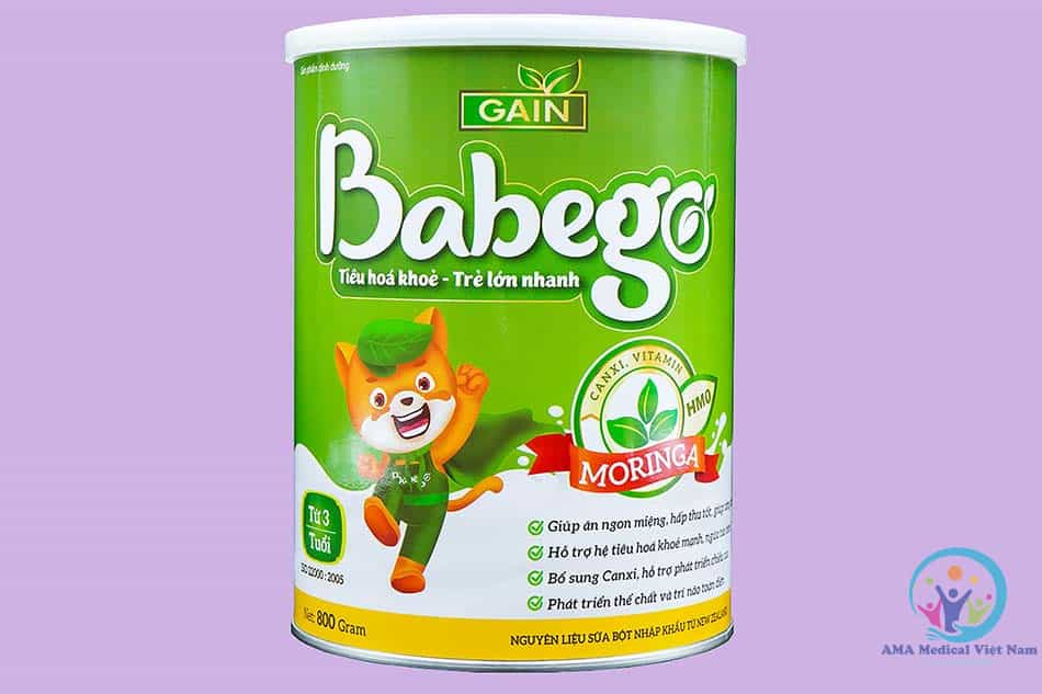 Babego 800mg cho trẻ từ 3 tuổi