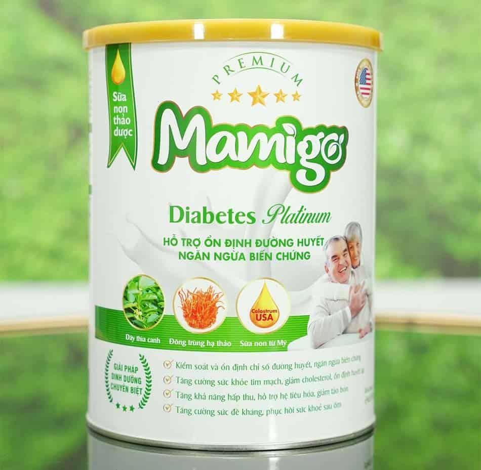 Hộp sữa tiểu đường Mamigo