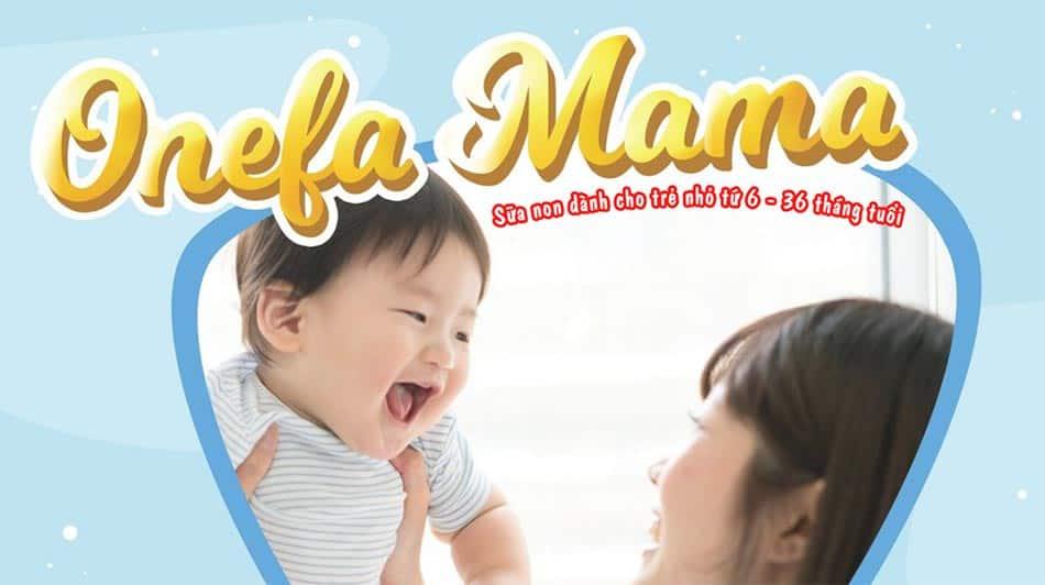 Onefa mama thích hợp với cơ thẻ trẻ Việt Nam