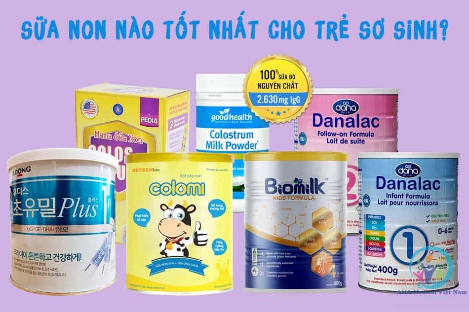 Sữa non nào tốt nhất cho trẻ sơ sinh?