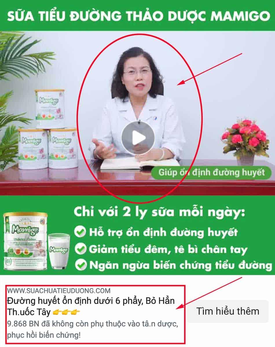 Sữa tiểu đường Mamigo lừa đảo