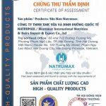 Công ty TNHH Sữa và Dinh dưỡng Quốc tế Natrumax được chứng nhận sản phẩm chất lượng cao