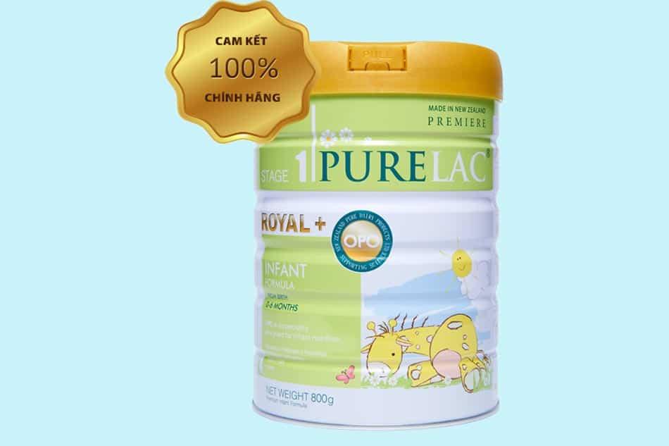 Sữa Purelac số 1 (Stage 1): Trẻ từ 0 - 6 tháng đầu.