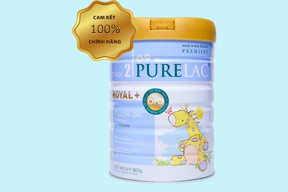 Sữa Purelac số 2 (Stage 2): Trẻ từ 6 - 12 tháng.