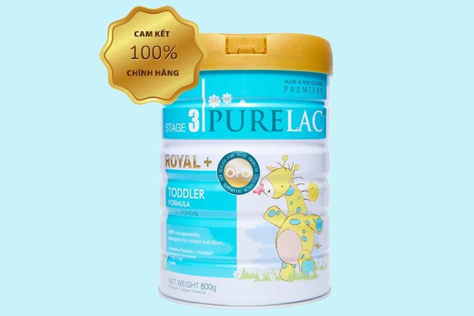 Sữa Purelac số 3 (Stage 3): Trẻ từ 12 - 36 tháng.