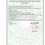 Giấy tiếp nhận đăng ký bản công bố sản phẩm Elasten