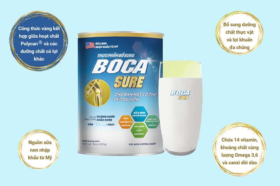 Thành phần của Sữa non Boca sure