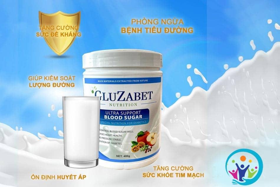 Công dụng của sữa tiểu đường Gluzabet